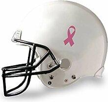 Offizieller Fußball-Helm-Aufkleber, Pink Ribbon