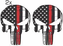 Offizieller Red Line Punisher Skull 3M Orafol