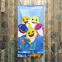 Offizielles Baby-Handtuch mit Hai-Motiv, blaues