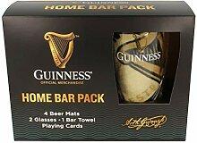 Offizielles Guinness Home Bar Pack mit Matte,