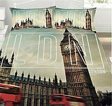 Offizielles London – Big Ben – Bettwäsche-Set