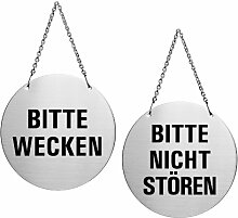 Ofform - Wendeschild Türhänger aus Edelstahl