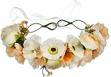 Ofgcfbvxd Blumen-Blumen-Stirnband-justierbare