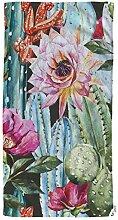 oFloral Kaktus und Blumen Rosen Handtücher
