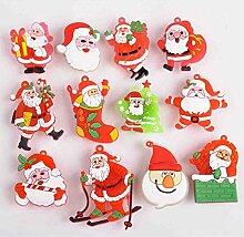OFT 12pcs. Weihnachtsmann Brosche Flash Brooch