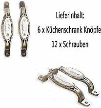 OFT 6 Stück 96mm Weinlese/Vintage Zink Legierung