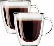 Oggi 6584 Espressobecher aus Borosilikatglas,