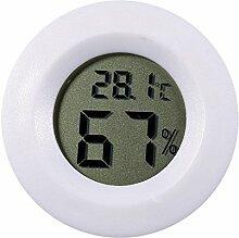 BIlinli Thermometer-Hygrometer aus Edelstahl f/ür Sauna-Feuchtemessger/ät