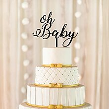 Oh Baby Cake Topper, Baby-Dusche Cake Topper,