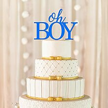 Oh Boy Cake Topper, Baby-Dusche Cake Topper,