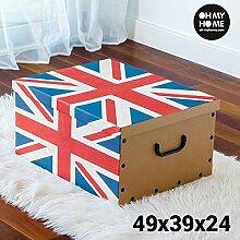 Oh My Home Flag Aufbewahrungsbox aus Pappe mit