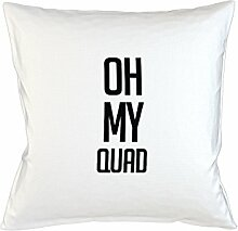 Oh My Quad Komisch Kissenbezug Haus Sofa Bett Dekor Weiß