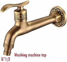 Ohcde Dheark Hot Sale Messing Antik Bibcock, Outdoor Faucet, Messing Dekorative Garten Tap/Waschmaschine Wasser Mischbatterie, Ein