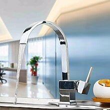 Ohcde Dheark Neues Design Wasserhahn Chrom Silber