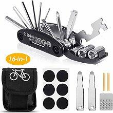 Ohiyoo Fahrrad-Multitool, 16 in 1 Werkzeuge für