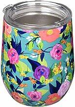 Ohne Stiel Wein Glas mit Deckel Nantucket Floral