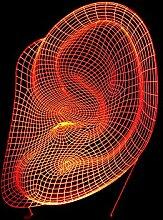 Ohr-buntes Licht 3D führte Acrylvisuelle