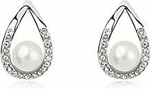Ohrringe mit Swarovski Element Perlenohrringe -
