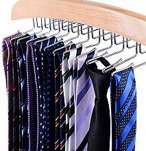 Ohuhu® 24 Krawattenhalter Krawattenbügel Krawatten Aufbewahrung Gürtelhalter