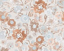 Oilily Floral Tapete - Orange/Creme/Blau