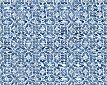 Oilily Home Vliestapete Oilily Atelier Tapete grafisch 10,05 m x 0,53 m blau weiß Made in Germany 302691 30269-1