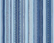 Oilily Tapete, gestreift, Blau