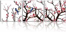 Oiney Leinwandbild, Kolibri- und Pflaumenblüte, 3