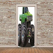 OIODI® 3D Türaufkleber für Innentüren Grün