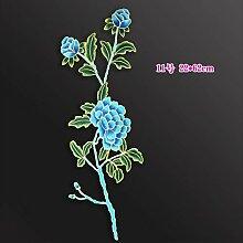 OJVVOP Feine Pfingstrose Bestickte Blume Aufkleber
