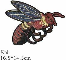 OJVVOP Kleine Biene Bestickt Tuch Aufkleber