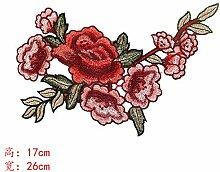 OJVVOP Mode Exquisite Stickerei Blume Tuch