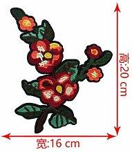 OJVVOP Mode Gestickte Blume Tuch Aufkleber Große