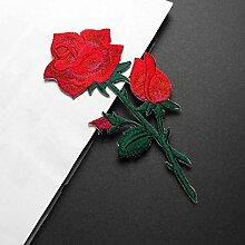 OJVVOP Rote Rose Tuch Aufkleber Kleine