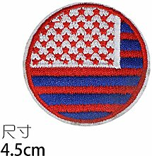 OJVVOP Runde Flagge Banner Tuch Aufkleber Bestickt
