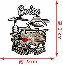 OJVVOP Stickerei DIY Bestickte Tuch Aufkleber Mode