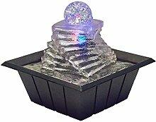 OK Lighting Tischbrunnen mit Licht, 20,3 cm