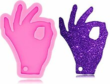OK-Schild-Hand-Symbol-Silikonform mit Loch für