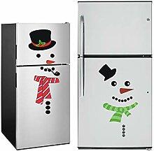 OKA Weihnachts-Schneemann-Kühlschrank-Aufkleber,