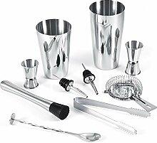 OKBY Shaker Set - 10Pcs Edelstahl Cocktail Shaker