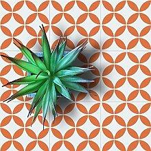 Oketo Fliese Muster Schablone, dazu Bemalt Fliese