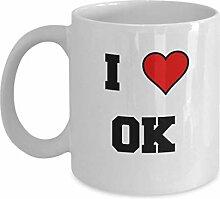 Oklahoma Kaffeetasse, ich liebe Oklahoma OK