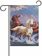OKONE Öl-Gemälde mit Pferdemotiv, doppelseitig,