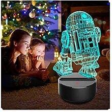 Oksea 3D Nachtlicht LED Star Wars Nachtlicht