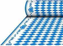 """Oktoberfest, bayerische Wiesn 2016, passende Dekoration und Produkte zur Wiesn alles """"""""Bayrisch Blau"""""""" : Servietten / Papiertischtuch / Mitteldecken / Tischläufer / Tischsets / Teller / Trinkbecher / Bierbecher / Dekofächer, Deko-Accessoires, Tischaufsteller """"""""Ozapft is!"""""""" / Wabenball / Dekokranz / Luftschlangen / Luftballons / Flaggenkette, Hängedekoration """"""""Gruß vom Oktoberfest"""""""" / Krepp-Bänder / Girlanden / Deko-Picker / (1 Rolle Tischdecke, stoffähnlich, Airlaid 25 m x 1,18 m)"""