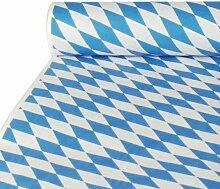 """Oktoberfest, bayerische Wiesn 2016, passende Dekoration und Produkte zur Wiesn alles """"Bayrisch Blau"""" : Servietten / Papiertischtuch / Mitteldecken / Tischläufer / Tischsets / Teller / Trinkbecher / Bierbecher / Dekofächer, Deko-Accessoires, Tischaufsteller """"Ozapft is!"""" / Wabenball / Dekokranz / Luftschlangen / Luftballons / Flaggenkette, Hängedekoration """"Gruß vom Oktoberfest"""" / Krepp-Bänder / Girlanden / Deko-Picker / (2 Rolle Papiertischtuch mit Damastprägung 10 m x 1 m)"""