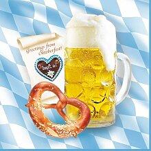 """Oktoberfest, bayerische Wiesn 2016, passende Dekoration und Produkte zur Wiesn alles """"Bayrisch Blau"""" : Servietten / Papiertischtuch / Mitteldecken / Tischläufer / Tischsets / Teller / Trinkbecher / Bierbecher / Dekofächer, Deko-Accessoires, Tischaufsteller """"Ozapft is!"""" / Wabenball / Dekokranz / Luftschlangen / Luftballons / Flaggenkette, Hängedekoration """"Gruß vom Oktoberfest"""" / Krepp-Bänder / Girlanden / Deko-Picker / (100 St Servietten, 3-lagig 1/4-Falz 33 cm x 33 cm """"Bavaria"""")"""