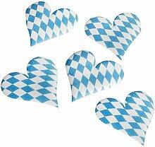 """Oktoberfest, bayerische Wiesn 2016, passende Dekoration und Produkte zur Wiesn alles """"Bayrisch Blau"""" : Servietten / Papiertischtuch / Mitteldecken / Tischläufer / Tischsets / Teller / Trinkbecher / Bierbecher / Dekofächer, Deko-Accessoires, Tischaufsteller """"Ozapft is!"""" / Wabenball / Dekokranz / Luftschlangen / Luftballons / Flaggenkette, Hängedekoration """"Gruß vom Oktoberfest"""" / Krepp-Bänder / Girlanden / Deko-Picker / (14 St Deko-Accessoires 45 mm x 45 mm x 2 mm)"""