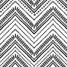 Okydoky Moderne ovale Tapete mit Streifen zum