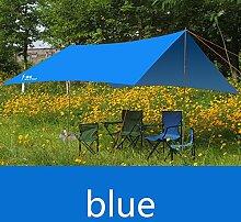 olaye Zelt Abdeckplanen, Regen Proof Strand Angeln Wandern Sonnensegel Tarp Outdoor Sonnenschutz, Park Pergola Sonnendach Zelt, blau