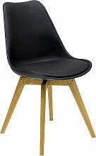 Olbia - Stuhl - Schwarz/ Eiche